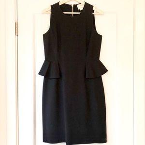 Kate Spade Peplum Sheath Dress Havana Black